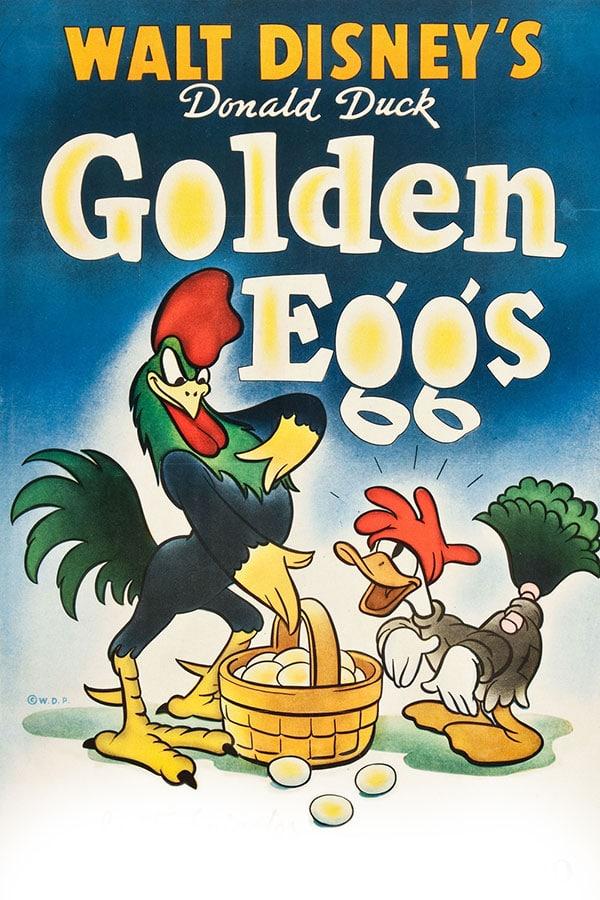 Copertina originale della storia Paperino e le uova d'oro