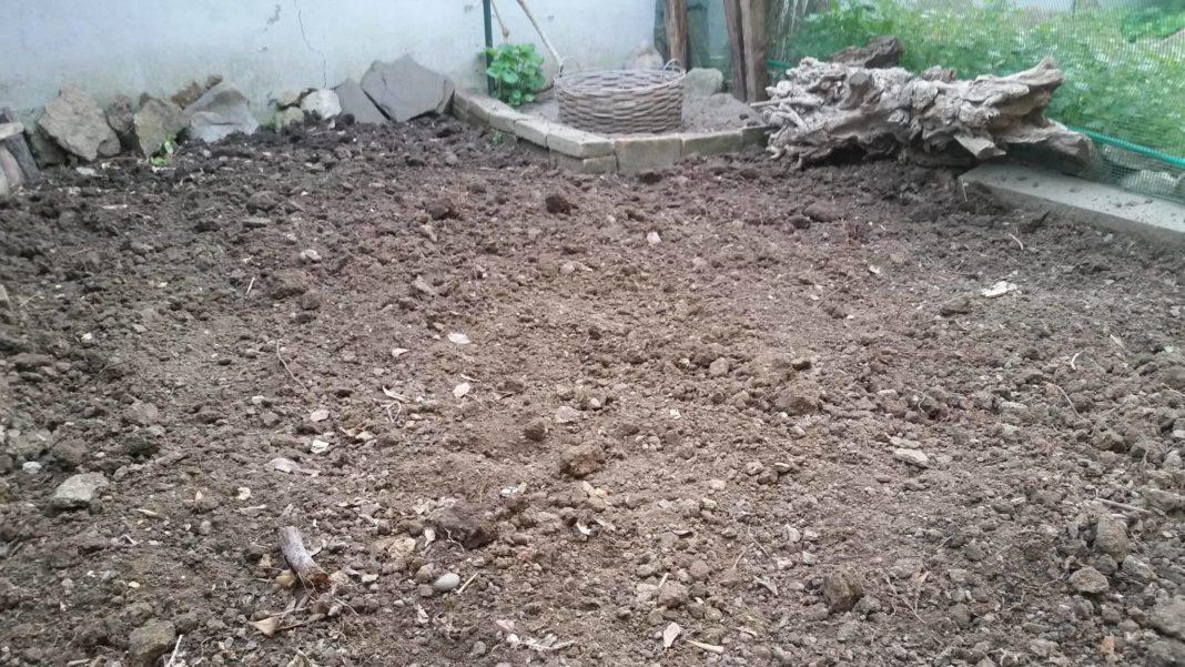 La lavorazione del terreno dove realizzare il prato di erbe spontanee