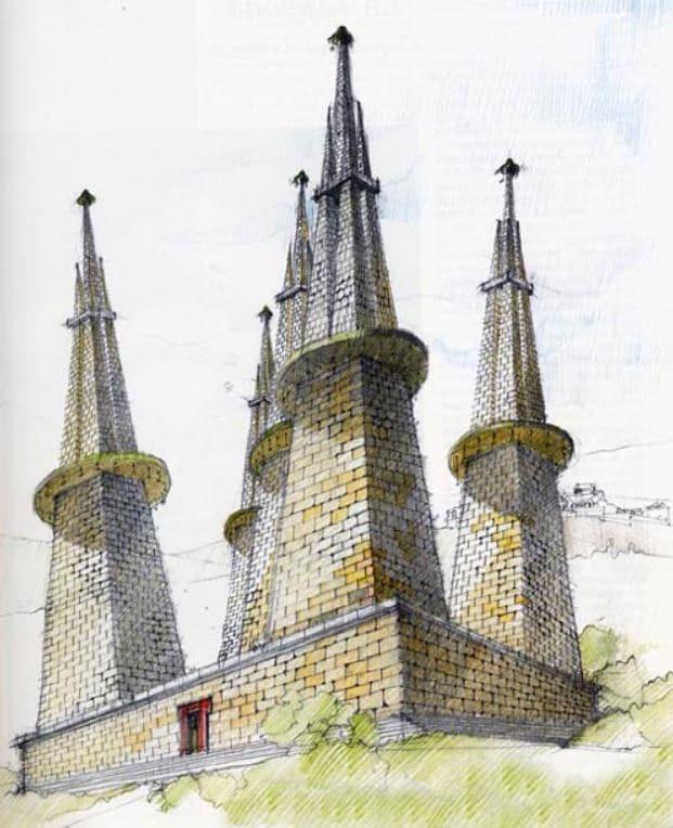 Ricostruzione della descrizione del mausoleo di Porsenna