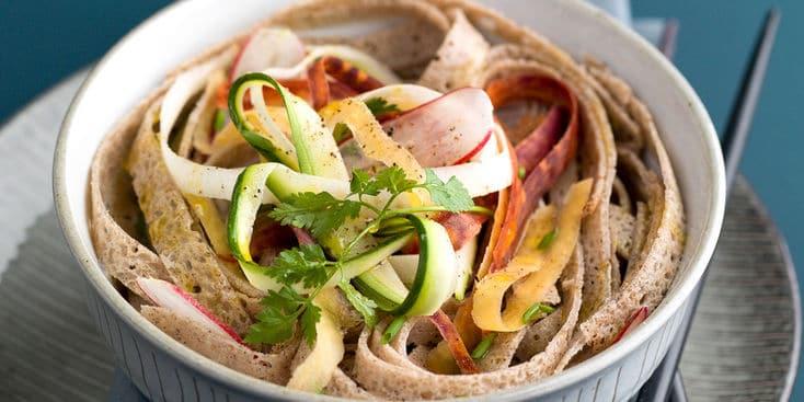 Insalata di verdure con crêpes