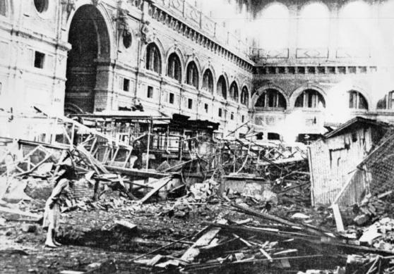 Mercato delle Vettovaglie, Livorno (dopo il bombardamento della città durante la Seconda Guerra Mondiale)