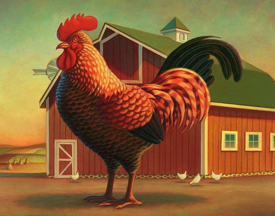 Iconografia di gallo e fienile statunitensi