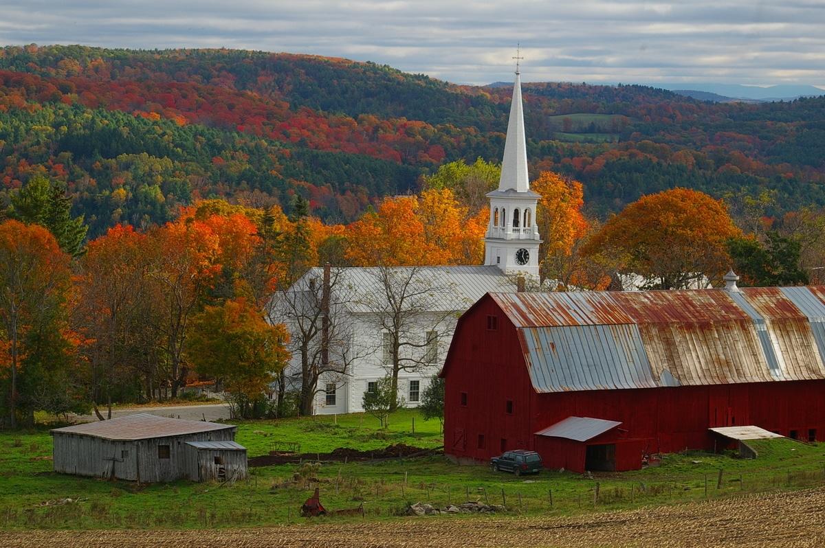 Tipico fienile del New England