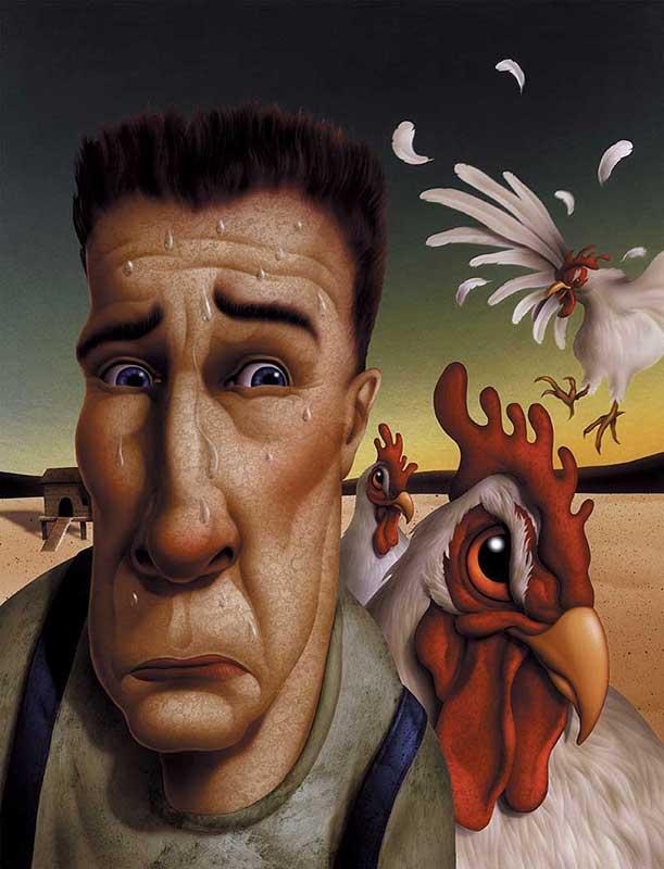 Persona in preda ad alectorofobia, paura delle galline