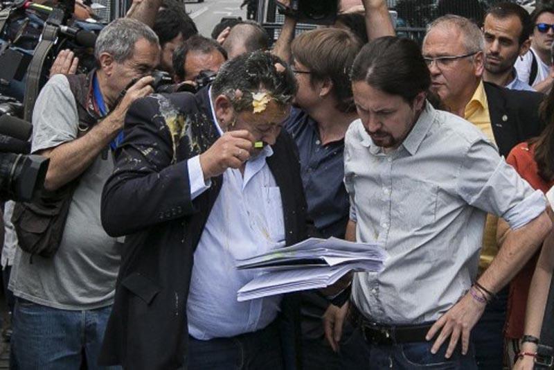 Contestazione del Presidente dei taxisti nel conflitto contro Uber, Madrid (2017)