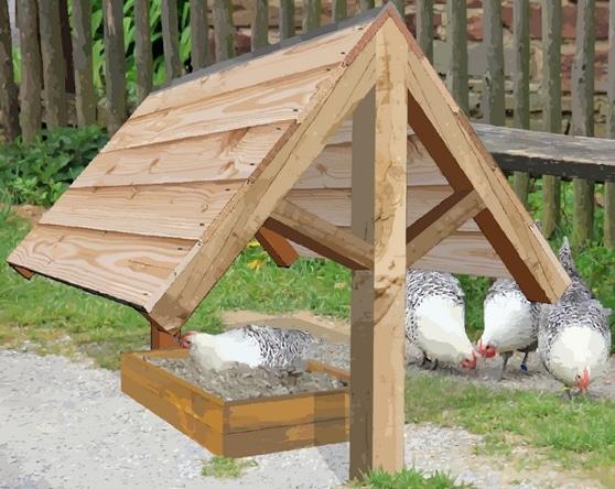 Una possibile copertura per il bagno di sabbia e cenere destinato alle nostre galline