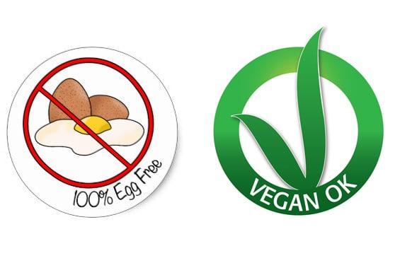 I marchi che contraddistinguono i prodotti vegani senza uova (egg free).