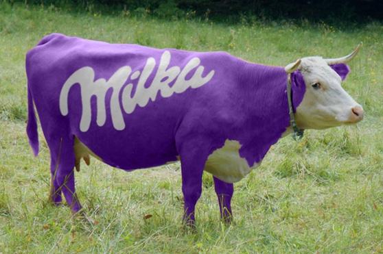 La famosa mucca viola della nota cioccolata Milka