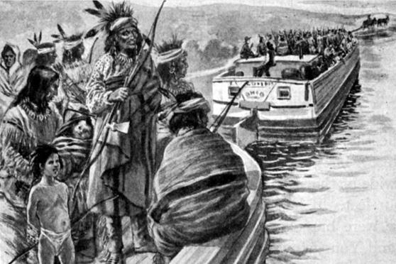 Gli ultimi indiani Wyandots lasciano l'Ohio (1840)
