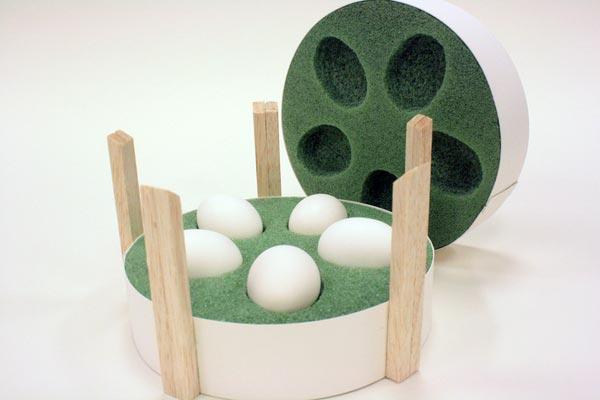 Come confezionare 5 uova, packaging innovativo