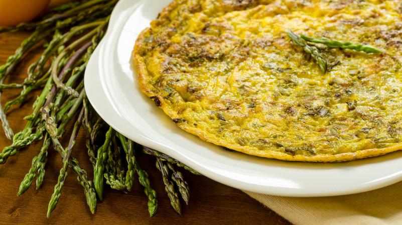 Frittata di asparagi di bosco (frittata primaverile)