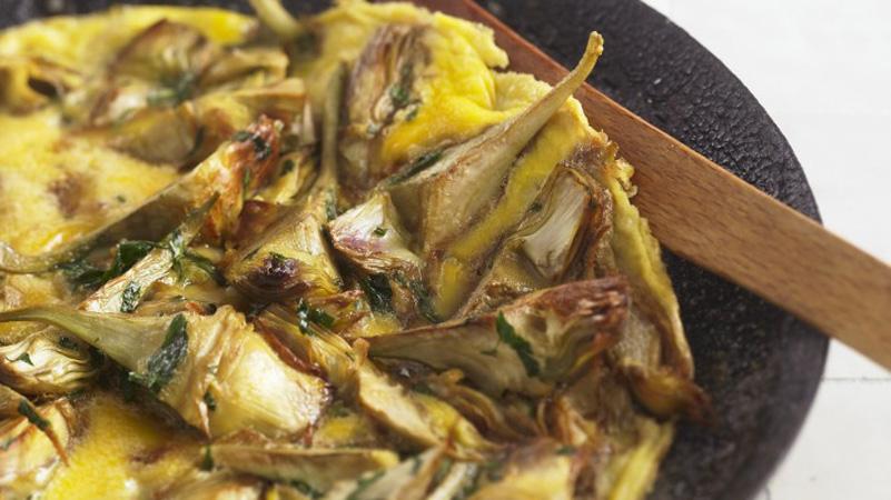 Frittata di carciofi (frittata autunnale e primaverile)