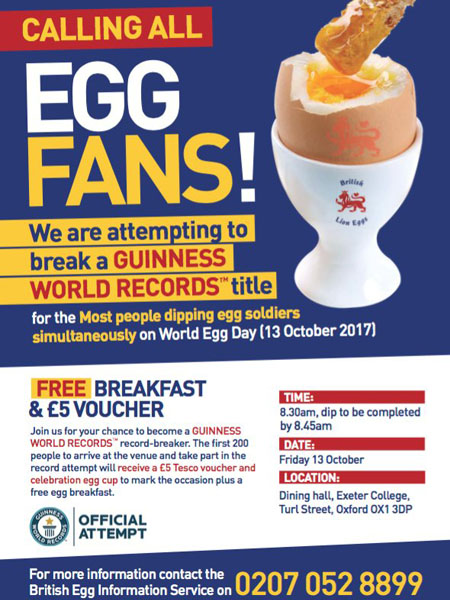 Record del Mondo di persone che mangiano l'uovo alla coque contemporaneamente | World Egg Day