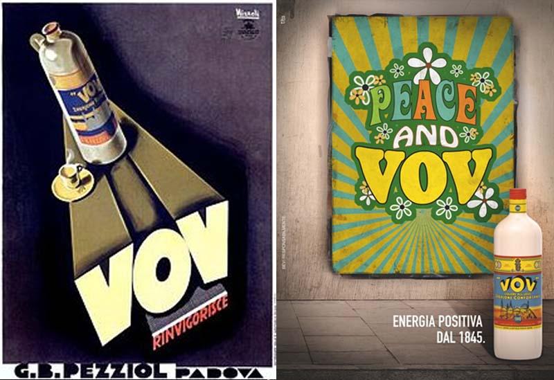 """La grafica """"vintage"""" del Vov G.B. Pezziol prima e dopo la Seconda Guerra Mondiale"""