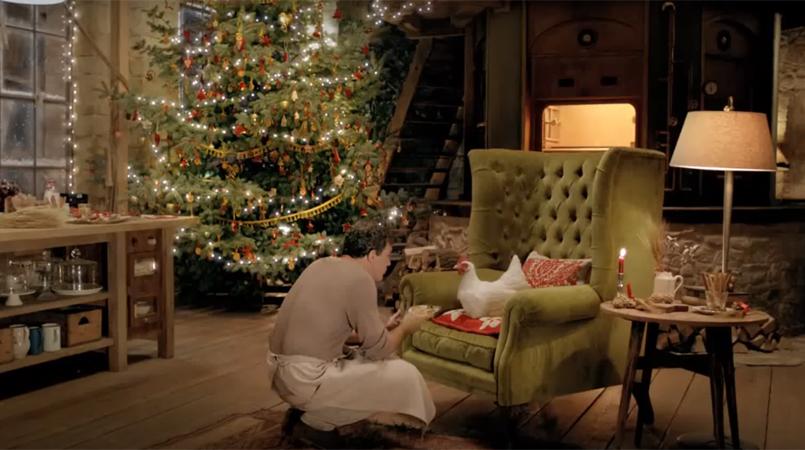 Gallina Rosita e il Natale