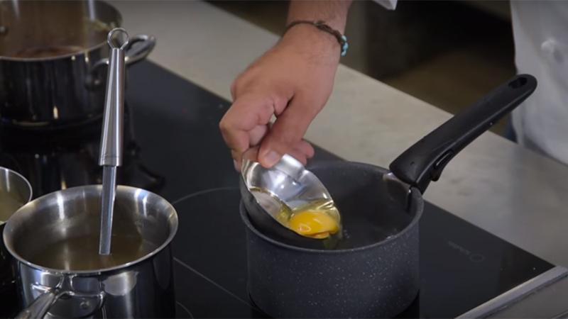 La cottura dell'uovo poché