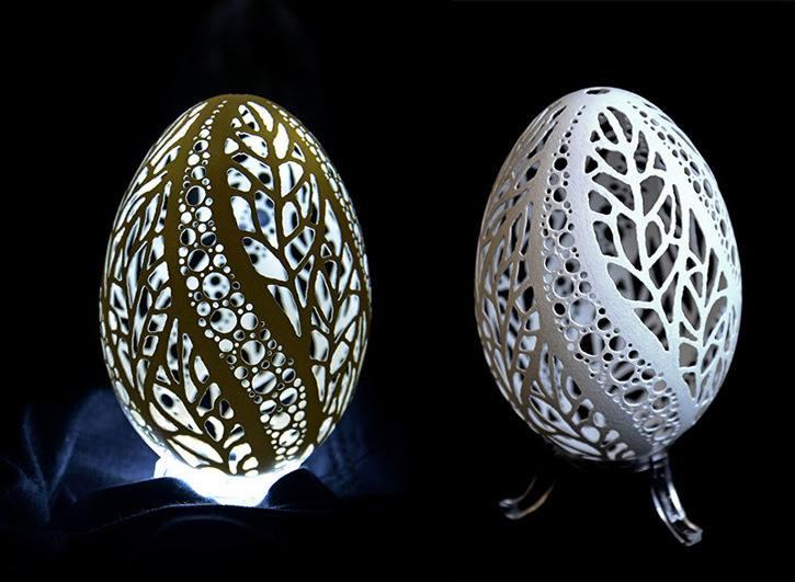 Wen Fuliang, due esempi eccezionali di uova incise