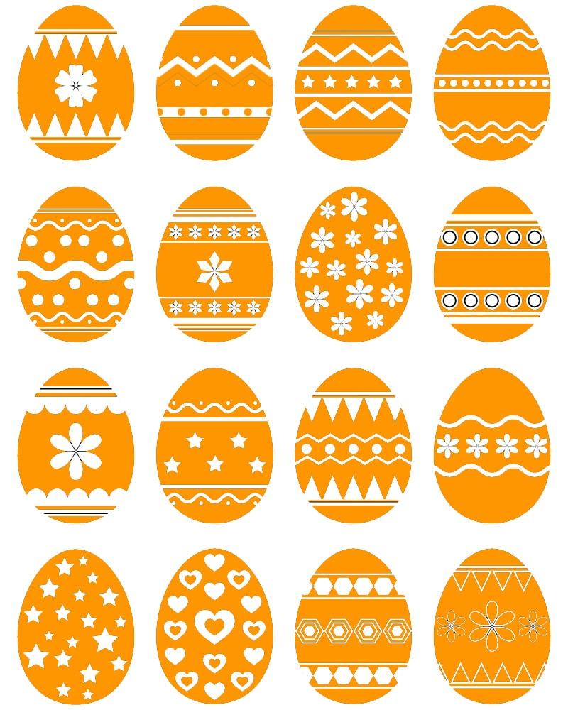 Alcuni esempi di decorazioni geometriche da cui prendere ispirazione per dipingere le uova