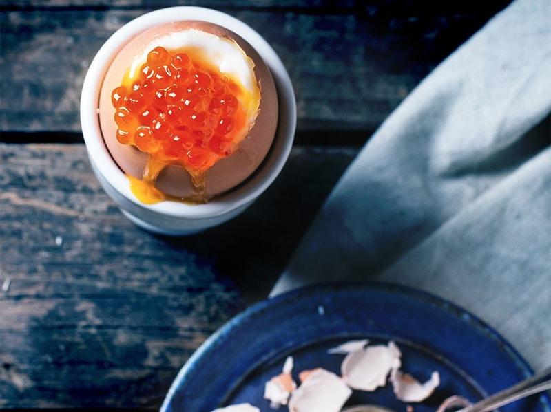 Uovo alla coque con caviale
