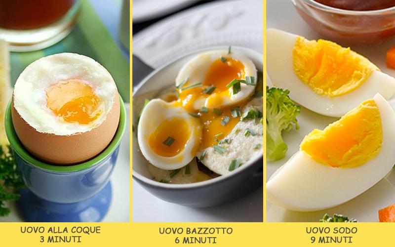 Tempi di cottura delle uova bollite