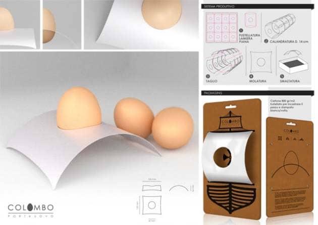 Portauovo vela (Uovo di Colombo - Vibel Design Alessandro Damin 2012)