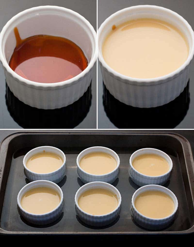 pirottini con base di caramello per créme caramel