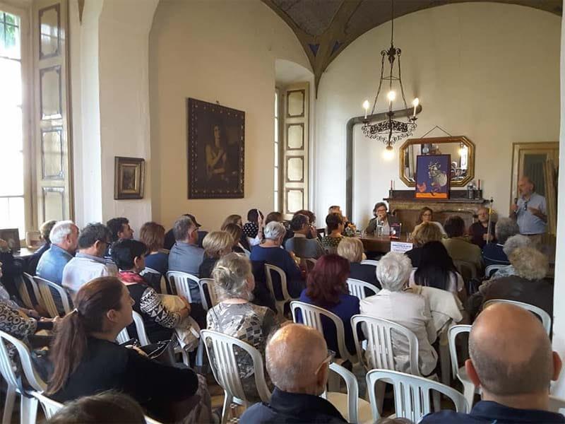 La presentazione del romanzo del 29 Aprile 2018 presso Castello di Montù Beccaria