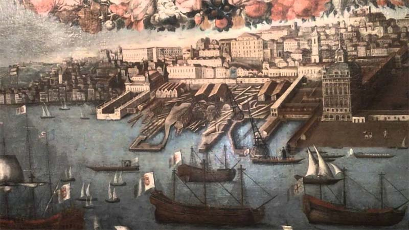 Porto di Lisbona nel 1400