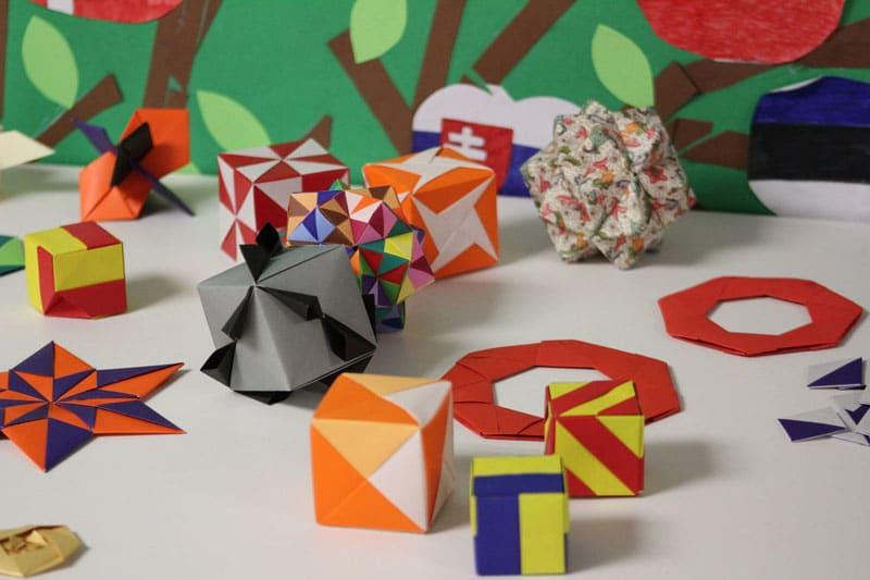 Alcuni esempi di figure di origami