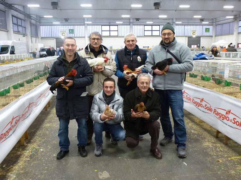 Maurizio Tona e i mericanellisiti ai Campionati Italiani di avicoltura di Reggio Emilia 2016