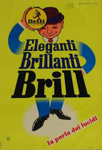 La storica locandina pubblicitaria del Brill