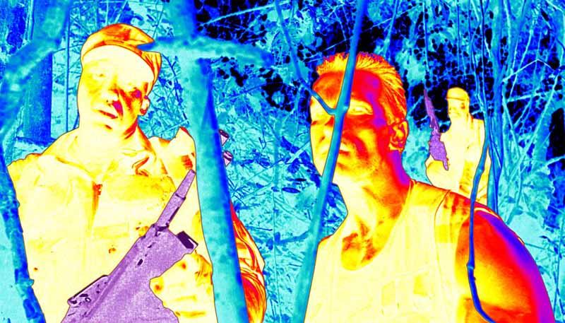 La vista ad infrarossi di Predator nell'omonimo film