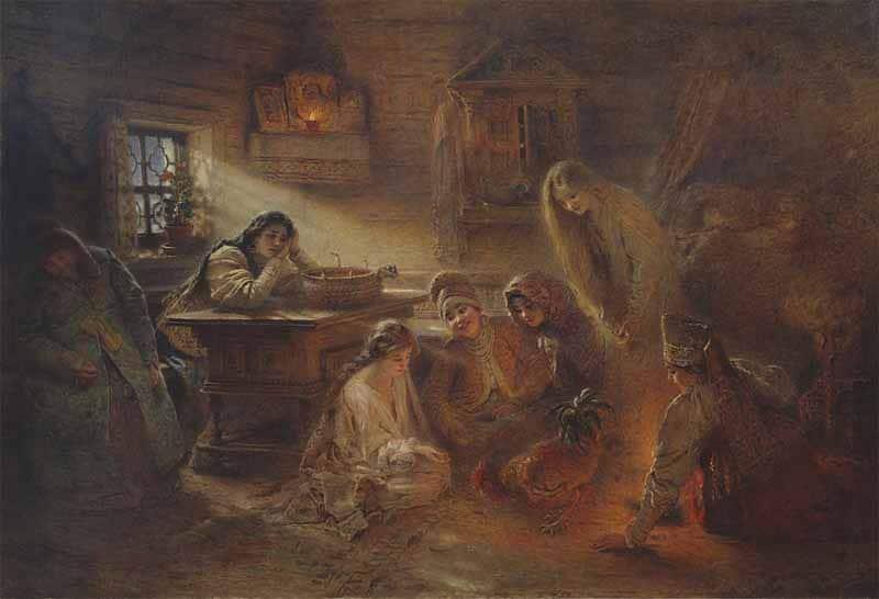 Tradizionale alettriomanzia russa-ortodossa (divinazione con ausilio di gallo)