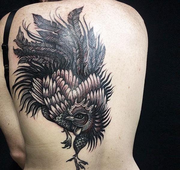 tatuaggio di gallo