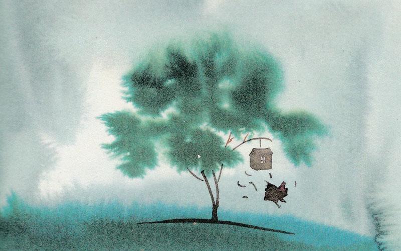 La favola delle due galline (illustrazione Alessandro Sanna)