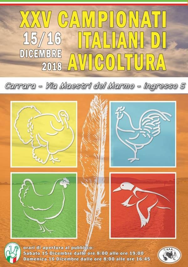 Locandina dei XXV° Campionati Italiani di Avicoltura