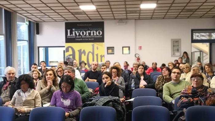 La sala della conferenza al Convegno sulla gallina livornese (Livorno)