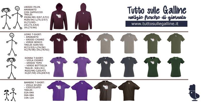 Le felpe e t-shirt della Limited Edition 2018 della linea Leghorn Chicken