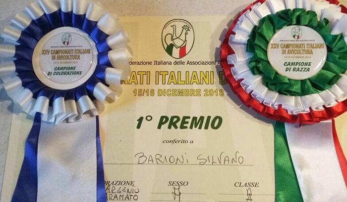 Premi conseguiti FIAV | Il Pollaio di Silvano