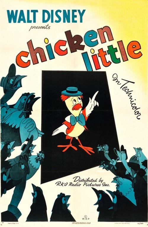 La locandina del cortometraggio Disney di Chicken Little del 1943