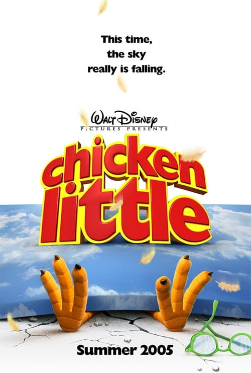 La locandina del film animato Chicken Little, Walt Disney 2005