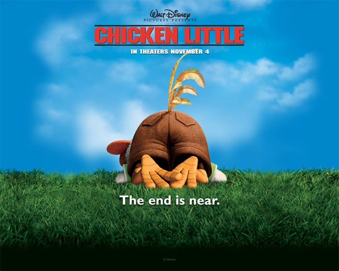 L'apertura del trailer del film animato Chicken Little, Walt Disney 2005
