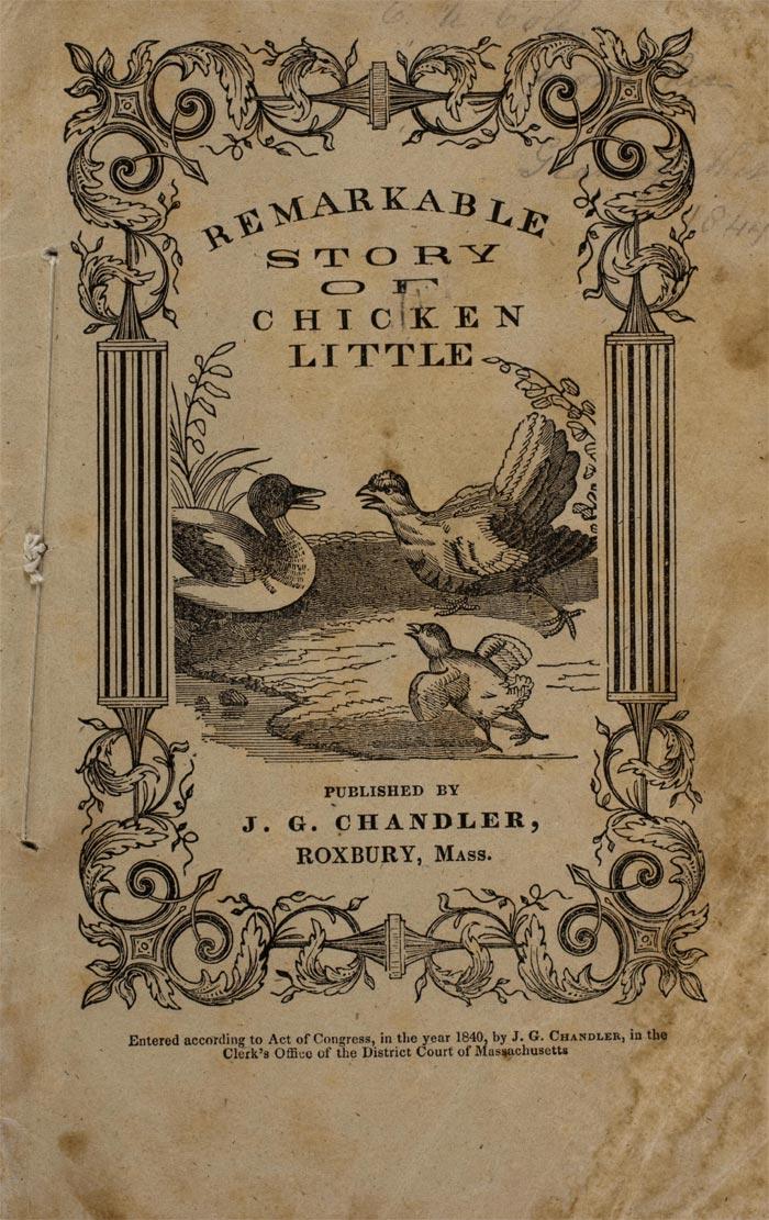 Copertina The Remarkable Story of Chicken Little (Roxbury, Mass - Massachusetts)