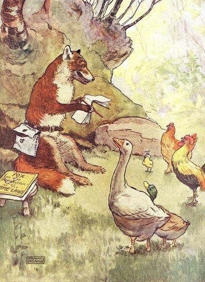 Chicken little, illustrazione originale di Frank Adams (1871-1944).