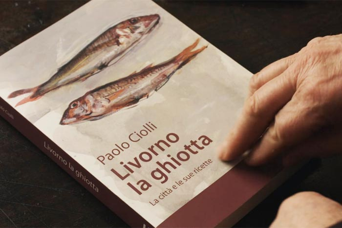 Livorno la ghiotta, di Paolo Ciolli (copertina a cura del pittore Mario Madiai)