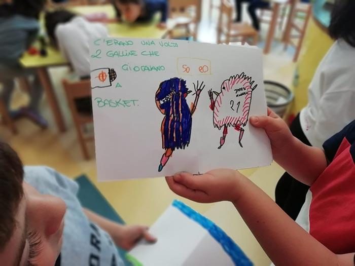 Gallina va in classe, uno dei racconti scritto dai bambini