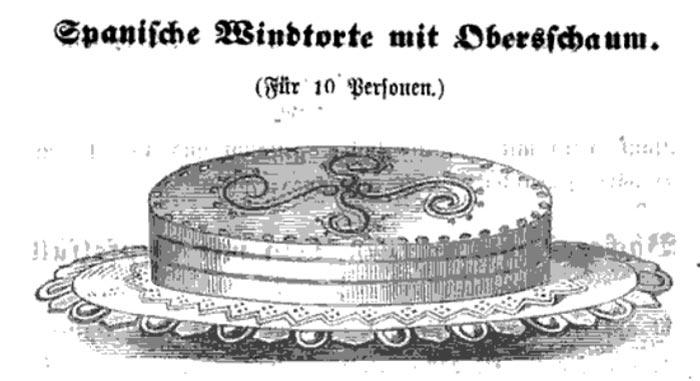Spanische Windtorte, antenata della torta Pavlova?
