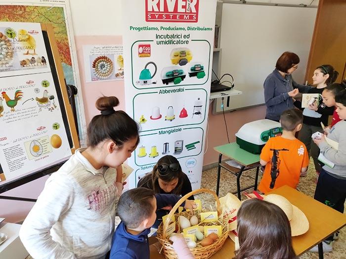 Gli sponsor (Cargill / Raggio di Sole e River System) e i gadget distribuiti agli alunni