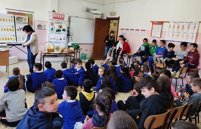 La classe allestita per la prima lezione