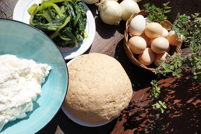 Ingredienti per la Torta Pasqualina